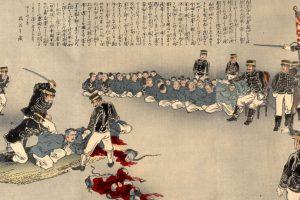 En Japón era la segunda parte del Seppuku, pues un Kaishakunin, segundo que asistía a la persona en el suicidio, ahorraba su agonía. Foto:vía Wikipedia. Imagen Por: