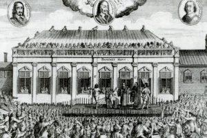 En Inglaterra se hacía con hacha o espada, en Francia con la guillotina. Foto:vía Wikipedia. Imagen Por: