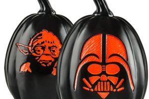 """Como su nombre lo dice, son calabazas de Halloween decoradas con personajes de """"Star Wars"""". Foto:thinkgeek.com. Imagen Por:"""