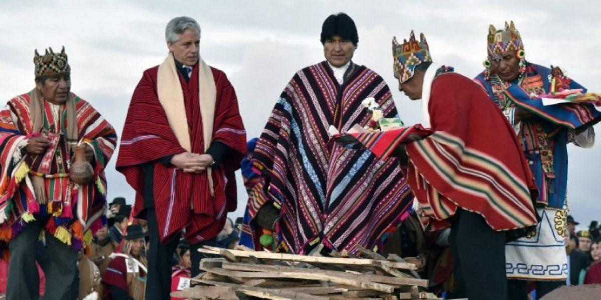 Morales celebra récord como presidente de Bolivia con ritual aymara