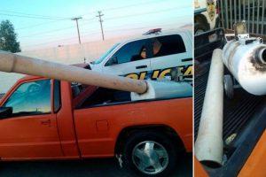 7. Un cañon improvisado que disparaba paquetes de droga. Se descubrió en Mexicali, México Foto:Seguridad Pública Mexicali. Imagen Por: