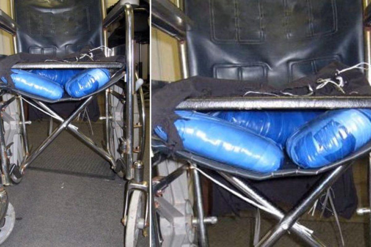 6. En 2011, un joven fue detenido tras fingir ser una persona con discapacidad. En la silla de ruedas transportaba marihuana Foto:Patrulla Fronteriza. Imagen Por: