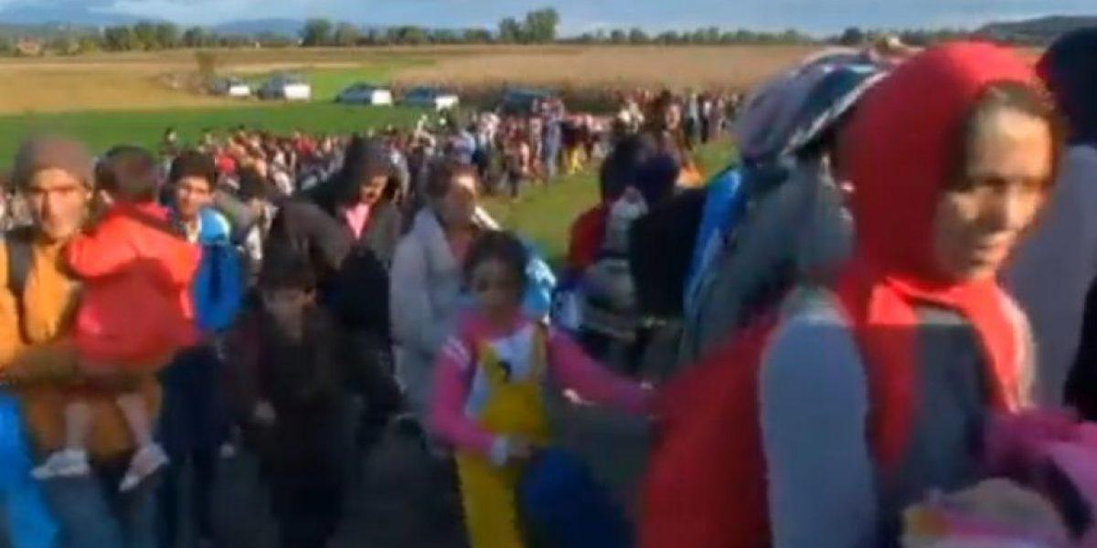 Tanques y 140 soldados:la marcha de los refugiados que cruzan Eslovenia