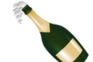 Botella de champagne descorchada. Foto:vía emojipedia.org. Imagen Por: