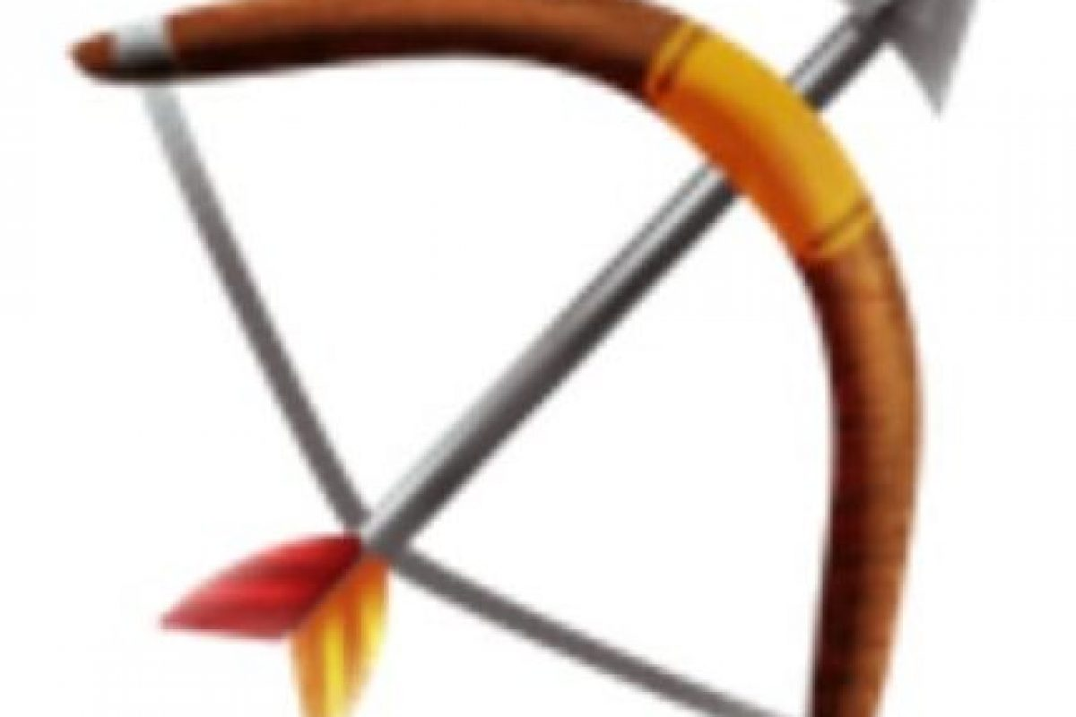 Arco y flecha. Foto:vía emojipedia.org. Imagen Por: