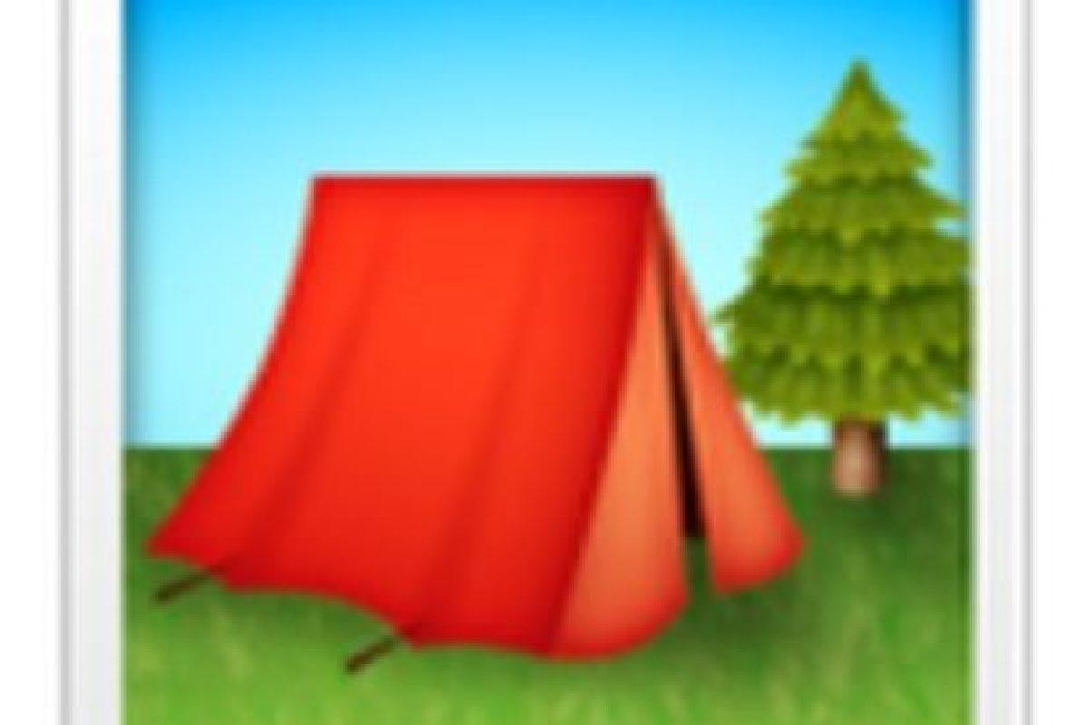 Casa de campaña. Foto:vía emojipedia.org. Imagen Por: