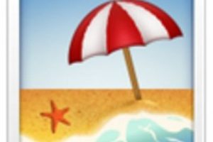 Playa con sombrilla. Foto:vía emojipedia.org. Imagen Por: