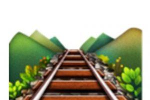 Vías de tren. Foto:vía emojipedia.org. Imagen Por: