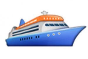 Barco de pasajeros. Foto:vía emojipedia.org. Imagen Por: