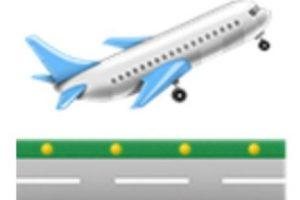 Avión de pasajeros despegando. Foto:vía emojipedia.org. Imagen Por: