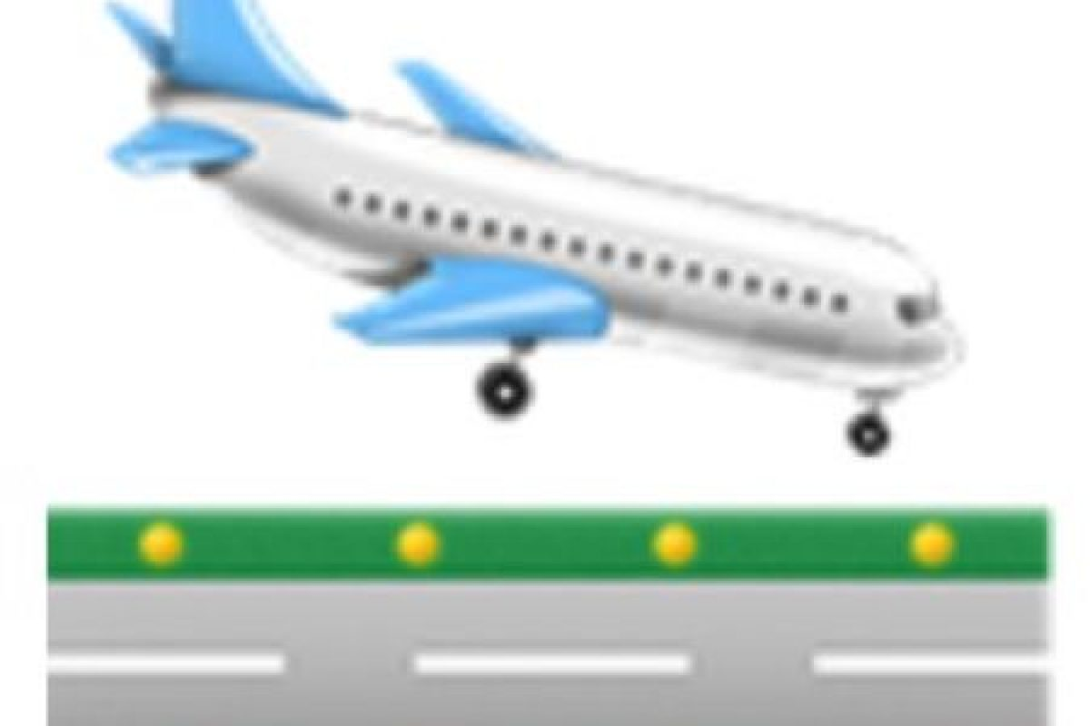 Avión de pasajeros aterrizando. Foto:vía emojipedia.org. Imagen Por: