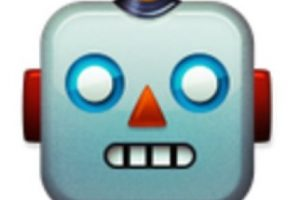 Robot. Foto:vía emojipedia.org. Imagen Por:
