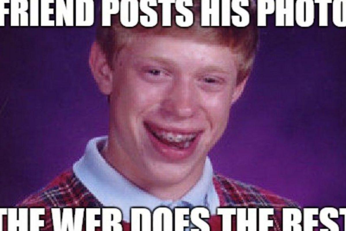 """""""Bad Luck Brian"""": A Kyle Craven también le cambió la vida cuando un amigo subió su foto a la web. Foto:vía Meme Generator. Imagen Por:"""