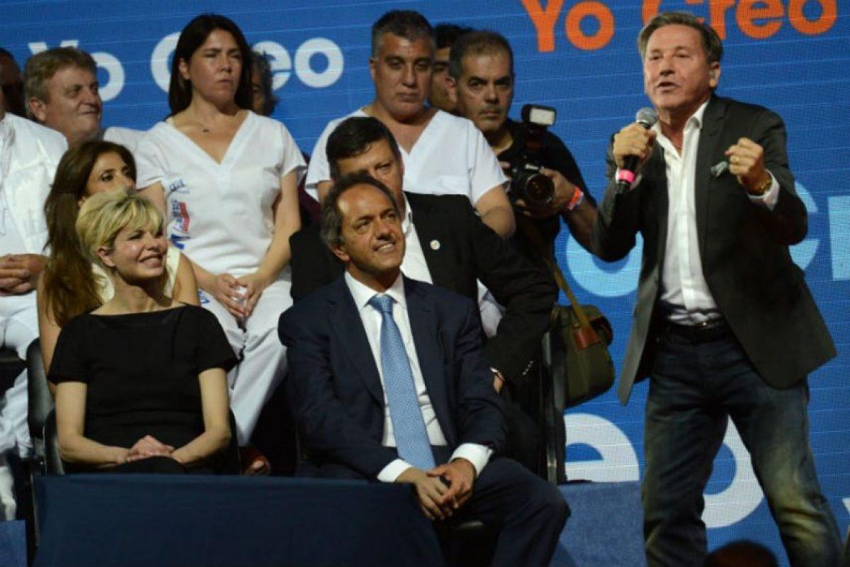 Daniel Scioli, quien es el candidato del partido de la presidenta Cristina Fernández de Kirchner, Frente para la Victoria Foto:AFP. Imagen Por: