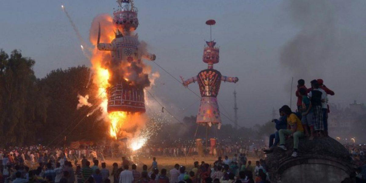 Impresionantes fotos de la India celebrando el festivales Dussehra