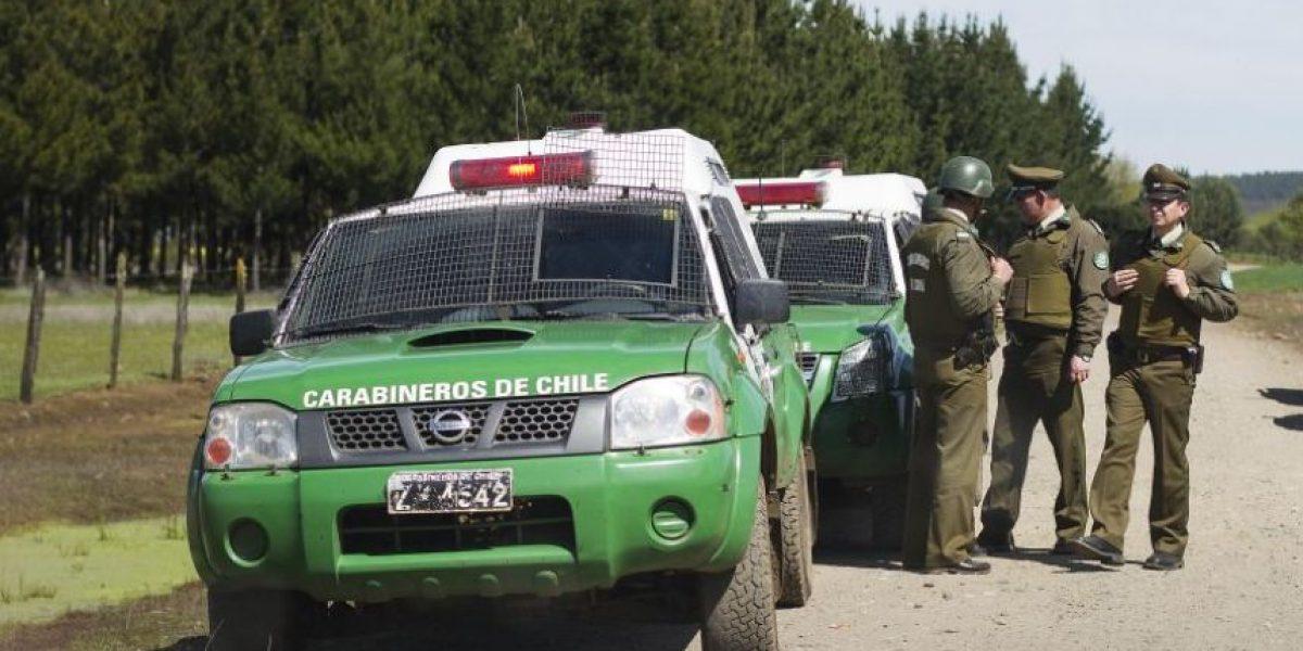 La Araucanía: sujetos atacan con armamento de guerra a carabineros