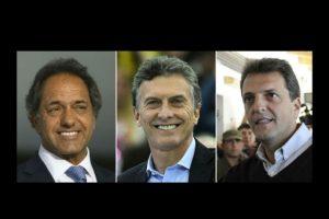Solo tres candidatos tienen opciones de convertirse en el próximo presidente de Argentina. Foto:AFP. Imagen Por: