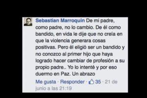 Esto contrastaba con su vida de violencia. Él y su madre le pidieron parar. Foto:vía Facebook/Sebastián Marroquín. Imagen Por: