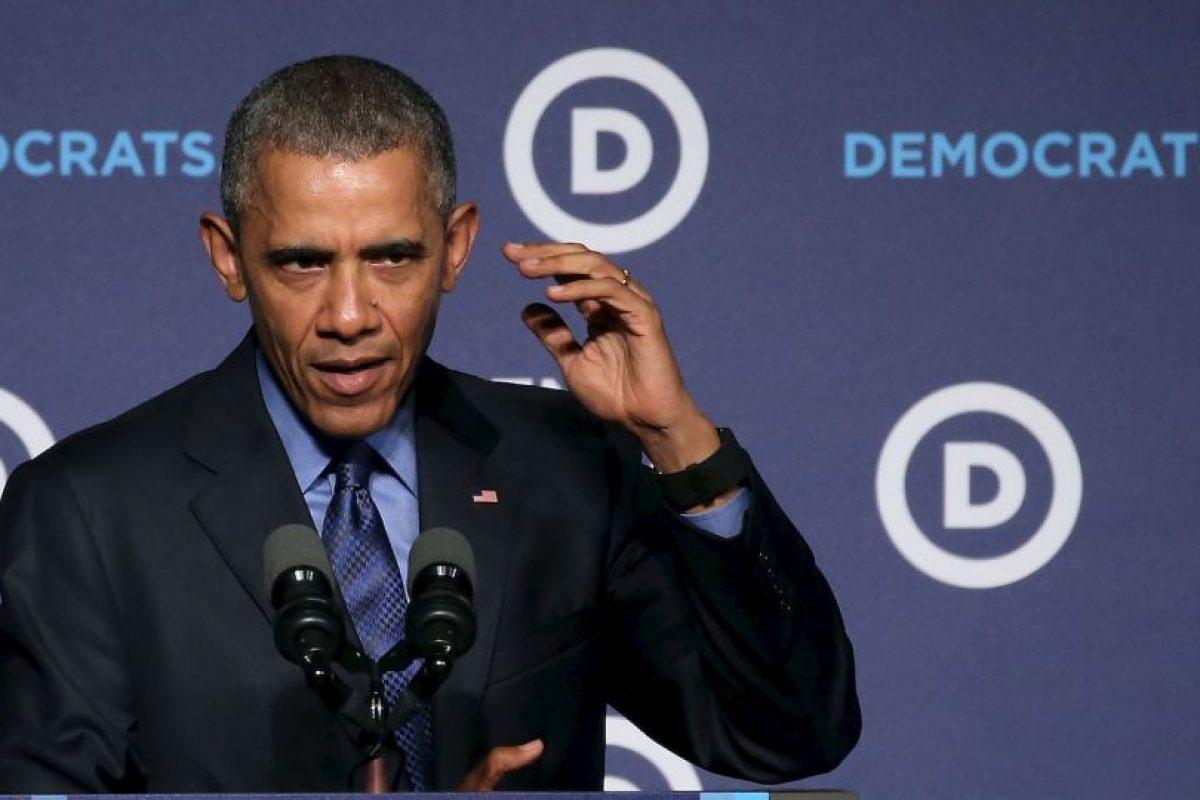 Durante su discurso en el Foro de Mujeres Líderes del Comité Nacional Demócrata, Barack Obama reclamó que los políticos del Partido demócrata ven muchas situaciones del país negativas. Foto:AFP. Imagen Por: