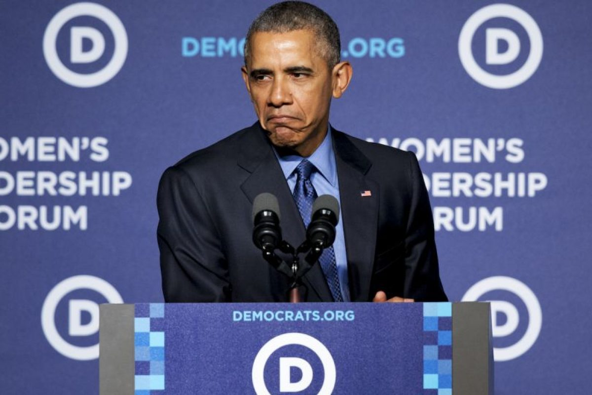 El presidente estadounidense no resistió hacer la expresión. Foto:AP. Imagen Por: