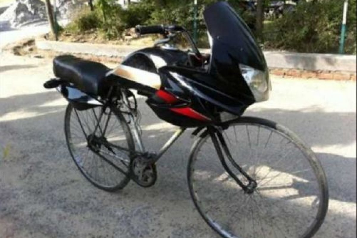 Momentos graciosos en la bici Foto:Pinterest. Imagen Por: