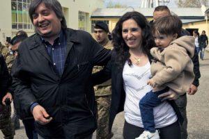 También acudió su hijo Máximo Foto:AFP. Imagen Por:
