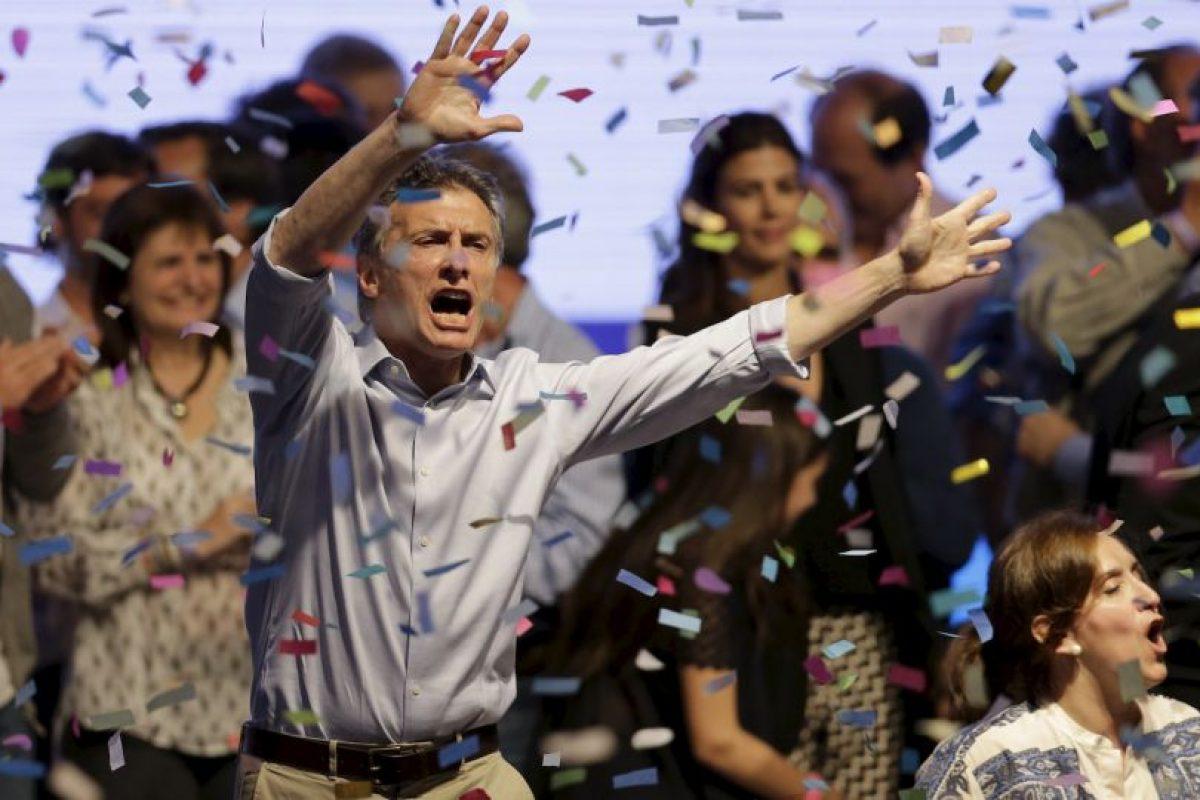 """Mauricio Macri, candidato presidencial de la alianza electoral """"Cambiemos"""", fue la gran sorpresa de la primera vuelta electoral celebrada el domingo 25 de octubre. Foto:AP. Imagen Por:"""