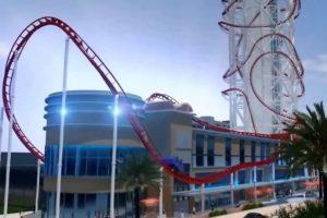 Skyscraper se ubicará en el parque de diversiones SkyPlex complex en Orlando, Florida Foto:Vía Youtube/animación. Imagen Por: