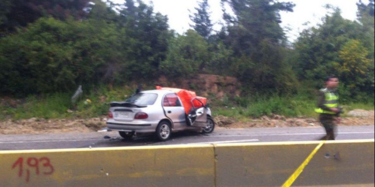 Colisión en Camino La Pólvora deja un muerto y varios lesionados
