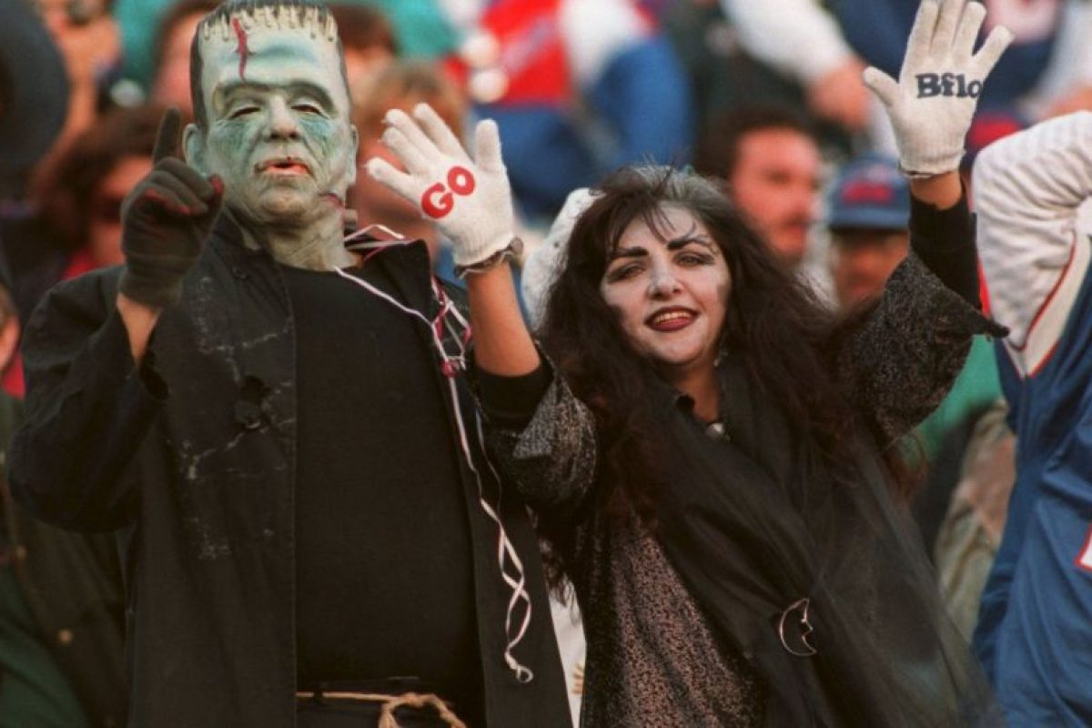 La afición también se llena de color y espantos cada Halloween. Foto:Getty Images. Imagen Por:
