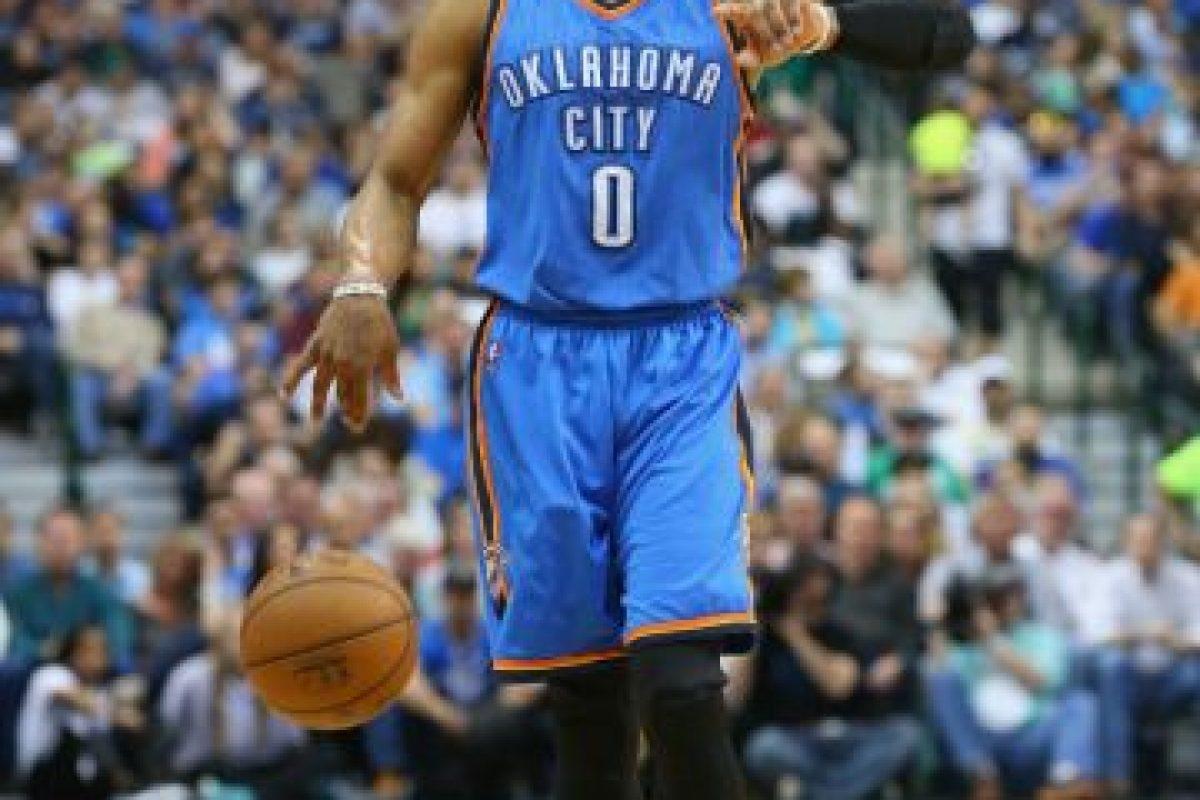 5. Los 5 aspirantes al MVP. El duelo estará cerrado por la calidad de los protagonistas. Uno de ellos es Russell Westbrook (Oklahoma City Thunder) Foto:Getty images. Imagen Por: