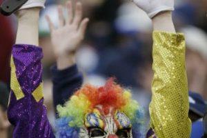 Este payaso tenebroso es seguidor de los Seattle Seahawks. Foto:Getty Images. Imagen Por: