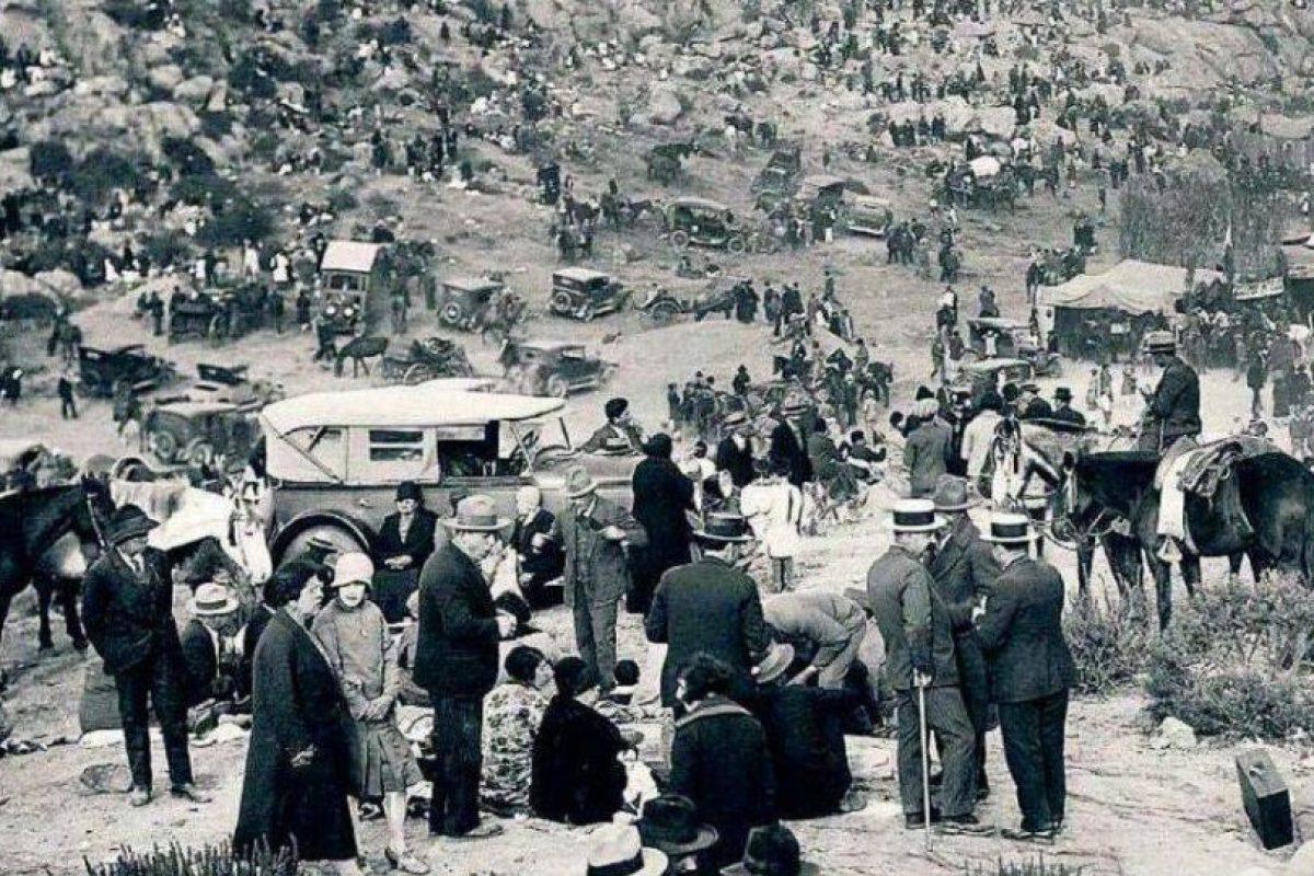 Celebración de Fiestas Patrias en La Pampilla de Coquimbo, año 1930. Foto:Fotos Históricas de Chile. Imagen Por: