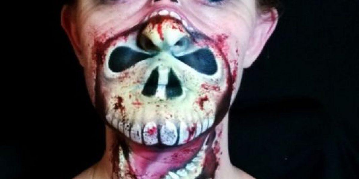 El maquillaje más terrorífico para Halloween