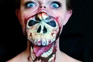 Nikki Shelley La artista sin sus maquillajes terroríficos. Foto:The painting lady. Imagen Por: