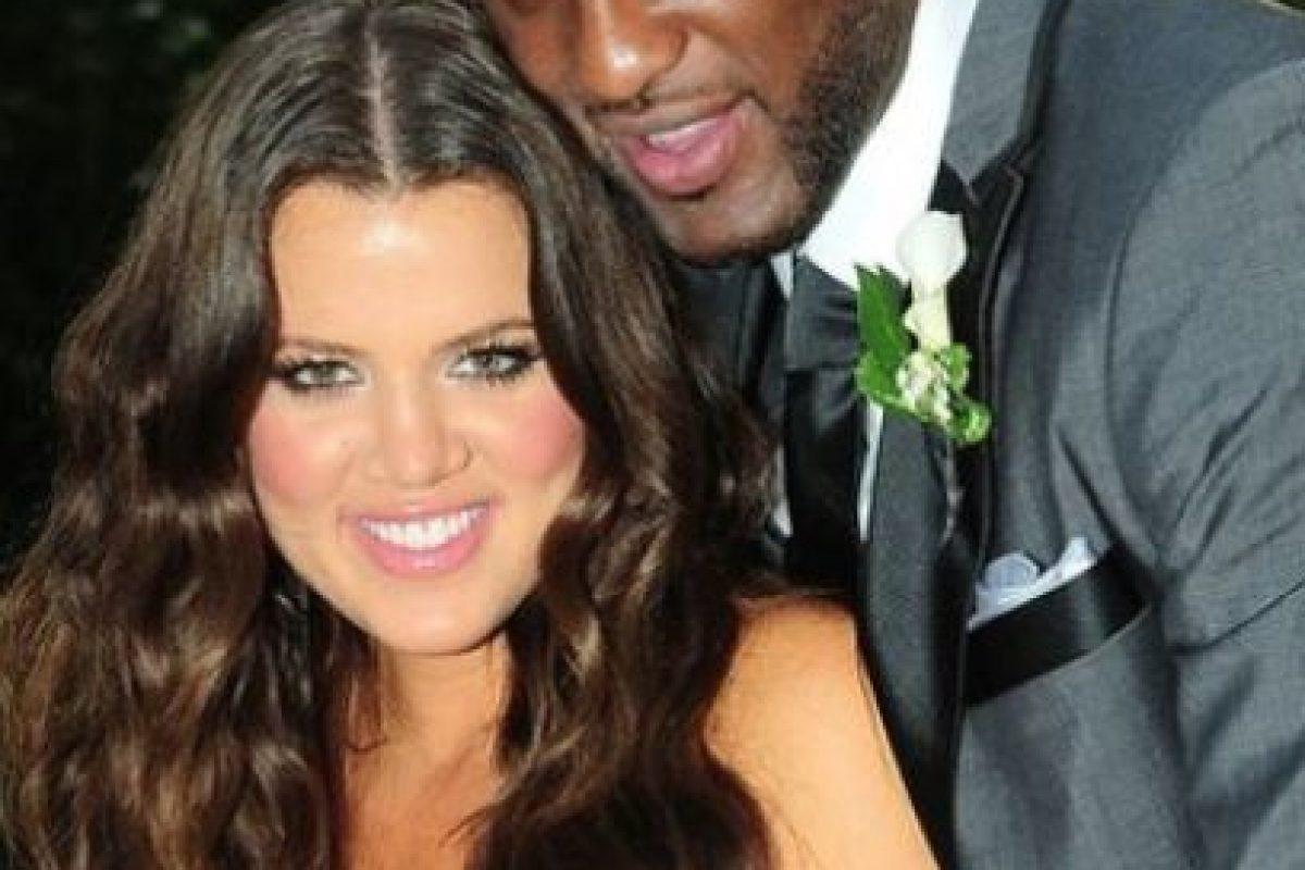 En 2009, Khloé Kardashian y Lamar Odom se casaron a tan solo cuatro semanas de conocerse Foto:The Grosby Group. Imagen Por: