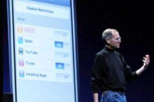 Steve Jobs presentó el iPhone 3G en la WWDC el 9 de junio de 2008. Foto:Getty Images. Imagen Por: