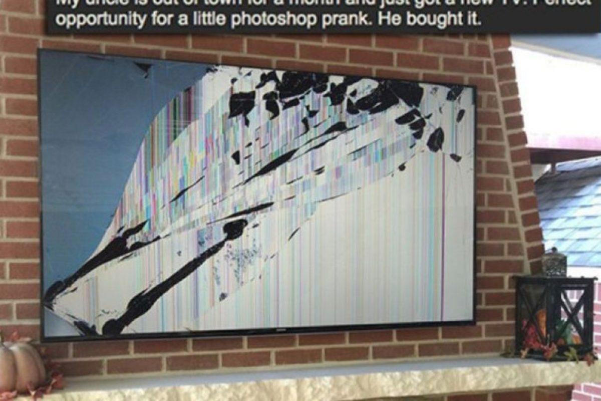 Lo que se puede hacer con el televisor. Foto:vía Prankked. Imagen Por: