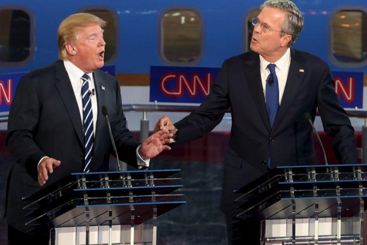 """Recientemente Donald Trump y Jeb Bush sostuvieron una """"batalla"""" a través de Twitter por los atentados del 9/11. Foto:Getty Images. Imagen Por:"""