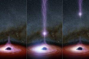 Sin embargo, esta vez investigadores de la NASA captaron el momento hubo una erupción de rayos X desde la corona del agujero. Foto:Vía nasa.gov. Imagen Por: