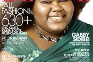 "Gabourey Sidibe en ""Elle"" Foto:ELLE. Imagen Por:"