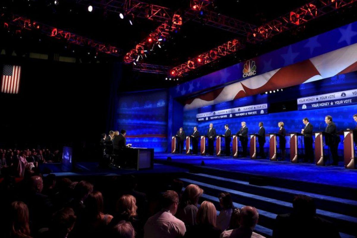 El miércoles 28 de octubre se llevó acabo el segundo debate de precandidatos del Partido Republicano Foto:AFP. Imagen Por: