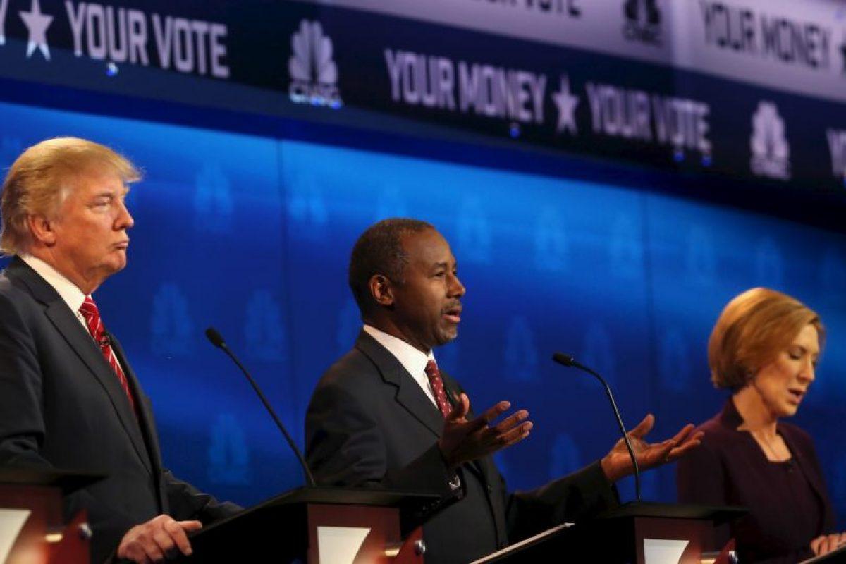 Donald Trump por su parte prefirio no hablar mucho y mantenerse como un candidato serio. Foto:AFP. Imagen Por: