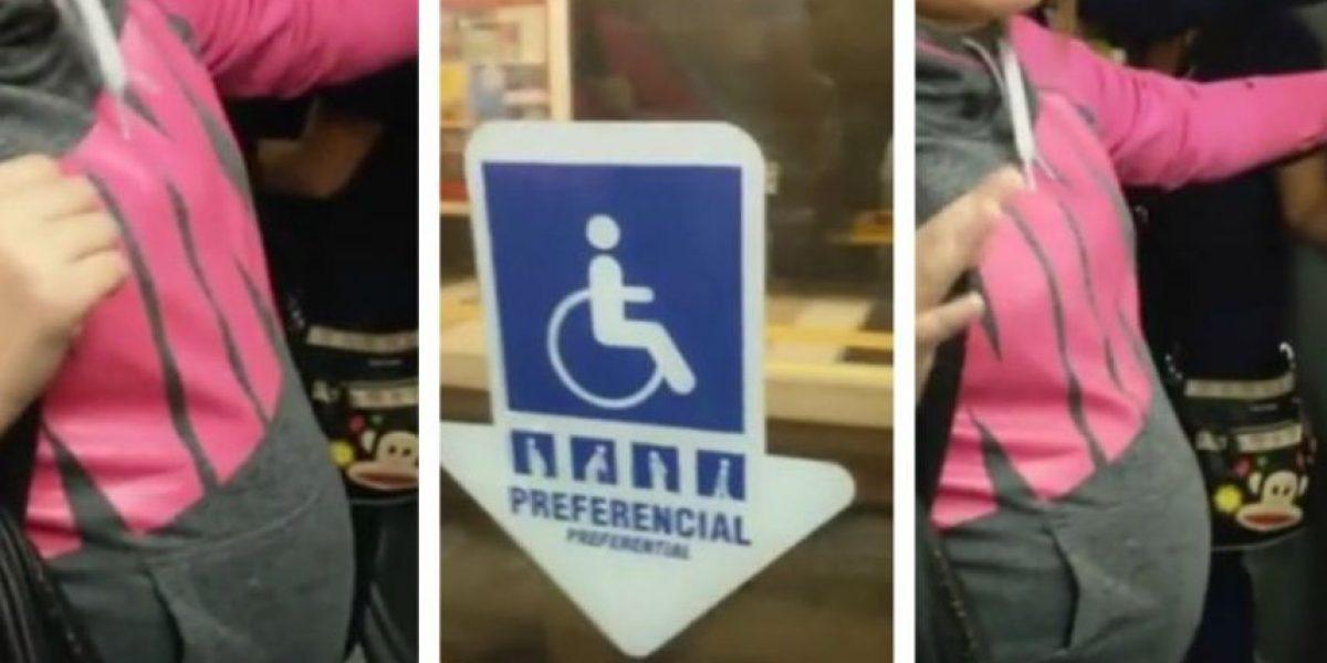 Presentarán proyecto para multar a quien no ceda asiento preferencial en el Metro