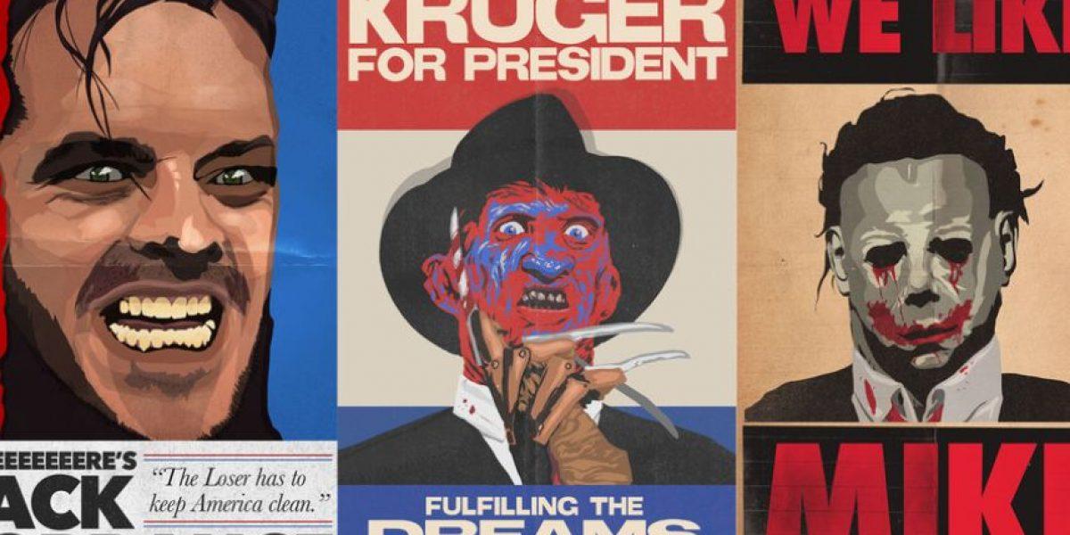 Sorprendente campaña muestra a villanos de terror como candidatos políticos