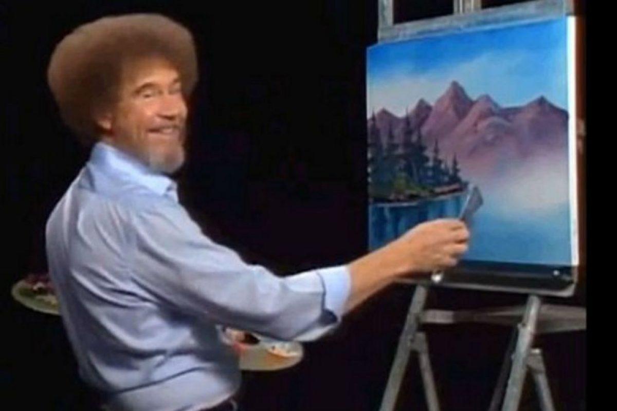 Ahora pueden ver a Bob Ross pintando árboles felices. Foto:facebook.com/The-Joy-of-Painting-with-Bob-Ross-150008825045842. Imagen Por: