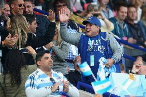 El argentino celebró en Dubái Foto:Getty Images. Imagen Por: