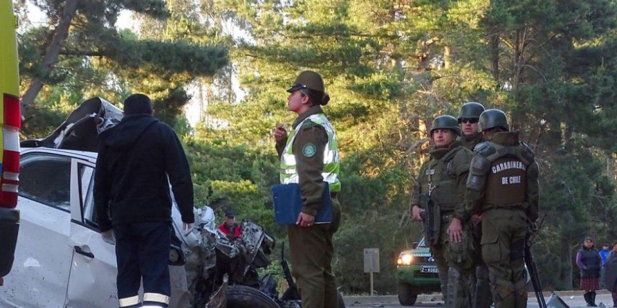 Accidente deja dos muertos y un herido grave en Ruta Cañete