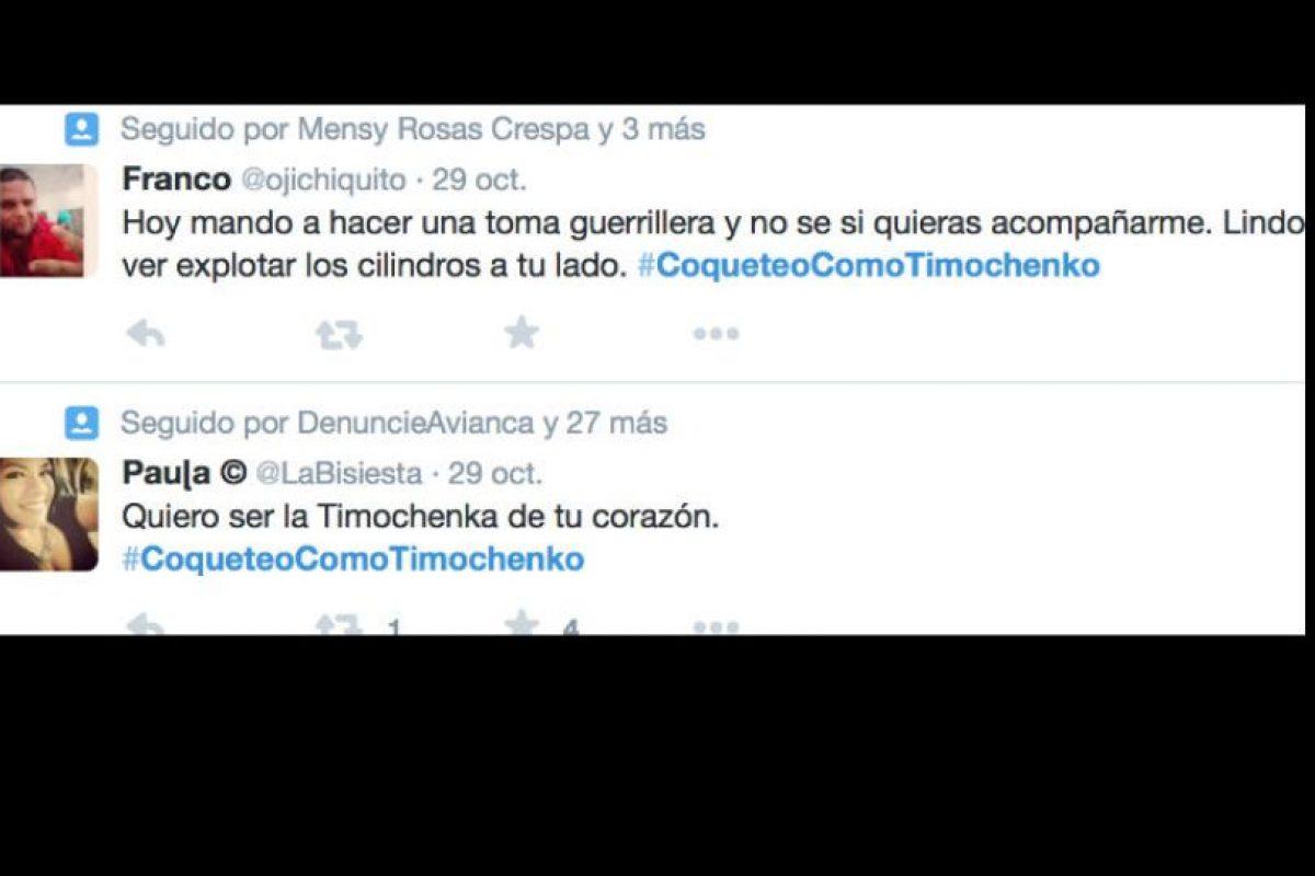 Se hizo un hashtag: #CoqueteoComoTimochenko. Foto:vía Twitter. Imagen Por: