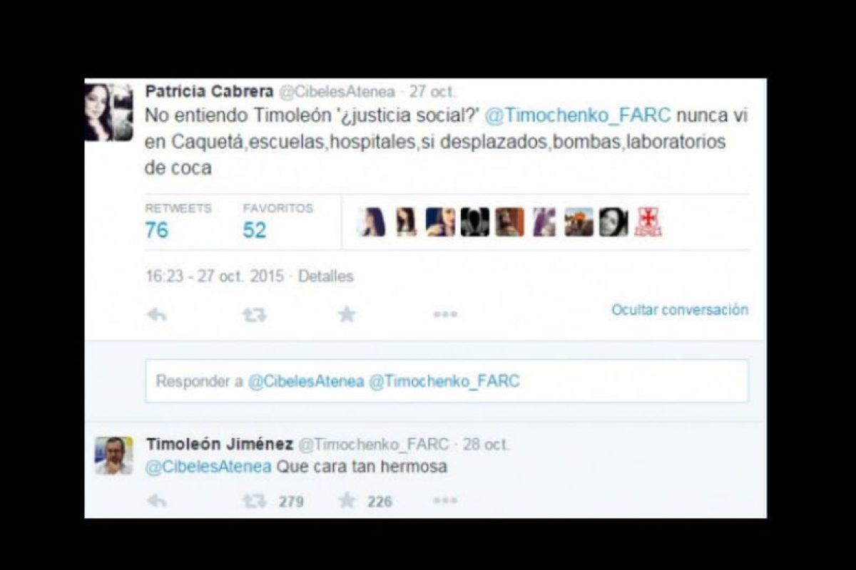 Patricia Cabrera, líder ganadera de Caquetá, región asolada por los crímenes de las FARC, lo criticó. A lo que este le respondió con un piropo. Foto:vía Twitter. Imagen Por: